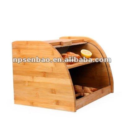 Bb002 bamboo bo te pain avec tiroir bo tes caisses for Boite a pain exterieur