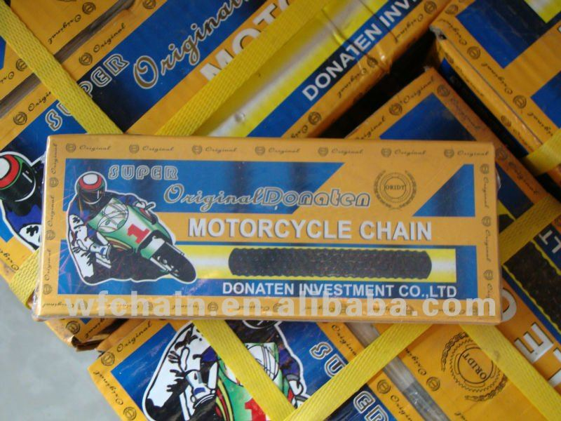 Excellent Quality Heat treatment 40Mn 428H-100L motorcycle chain for CG to Pakistan market -Motorcycle parts