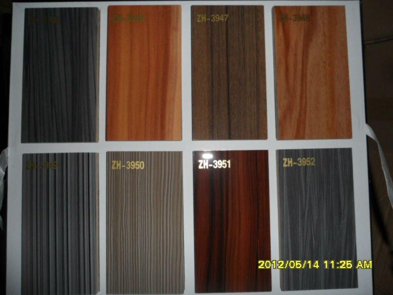 Kitchen Cabinet High Gloss Uv Wood Grain Door Factory