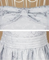 Вечернее платье 2012 new /bowknot belt/Jacquard fabric + snow spins/Evening dress/miniskirt/prom/party/dress/RG1204001