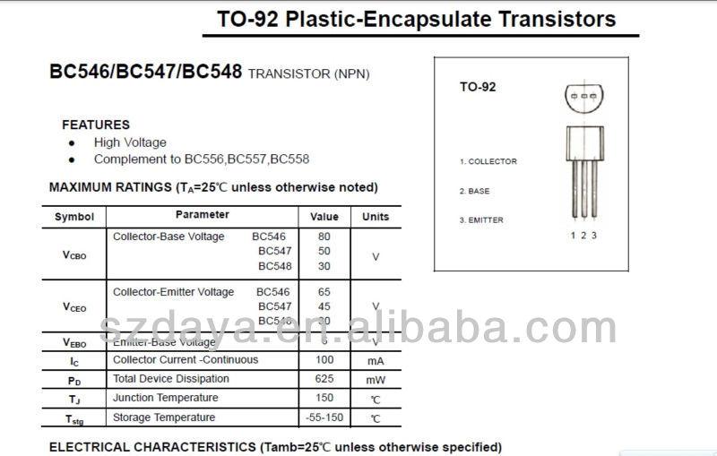 транзисторы BC546 / BC547