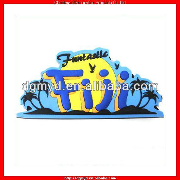Fiji souvenir custom 3d soft pvc fridge magnet China supplier (MYD-FM6666)