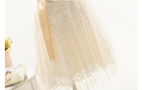 New Tube dress Party dress bridal wedding dress Lace Champagne&White&Red Cocktail Dresses 869-1