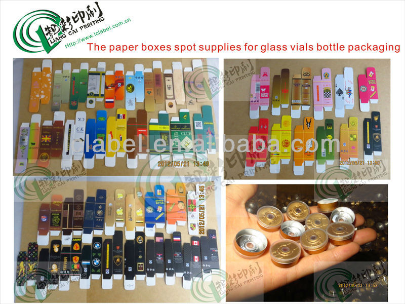 Fashionable amber glass injection vial test vials