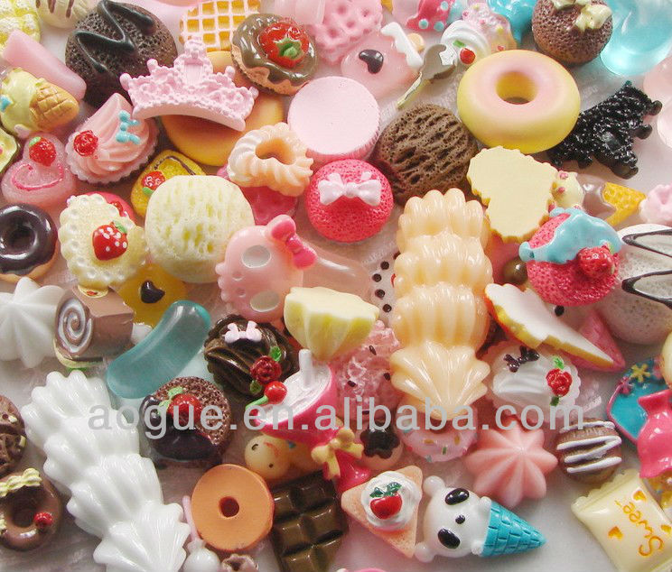 min resin candy for decoration min order 500pcs