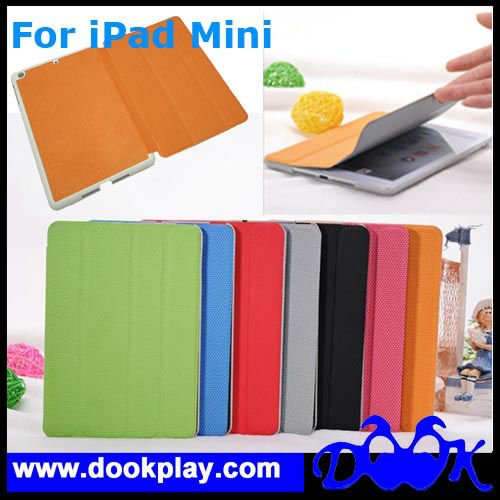 Hot ! For iPad Mini Smart Case With Back Cover