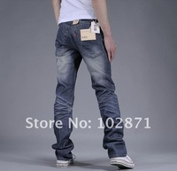 Мужские джинсы 2013 Men's Fashion Slim Fit Korean Classic Straight Washing Jeans Trousers shopping mens pants
