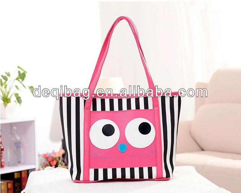 Black And White Striped Handbags Big Eyes Black White Stripes