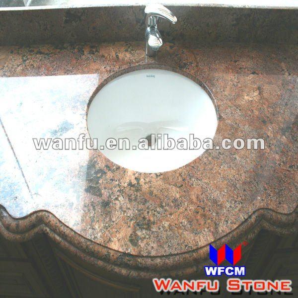 Hotel de luxo pia do banheiro granito bancadaTampos de mesas, balcões e pent -> Pia De Banheiro Com Granito Ouro Brasil