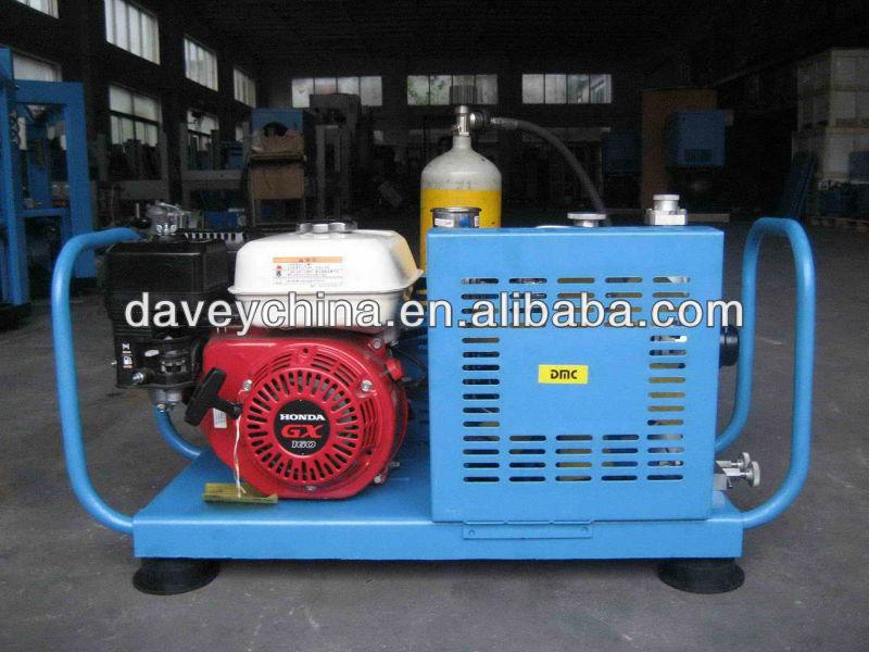 Portable haute pression compresseur d'air pour respirer plongée sous-marine 200bar 300bar
