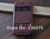 Чехол для для мобильных телефонов 1 pieces new luxury leather flip clamshell back cover case for Iphone 4 4s 4g