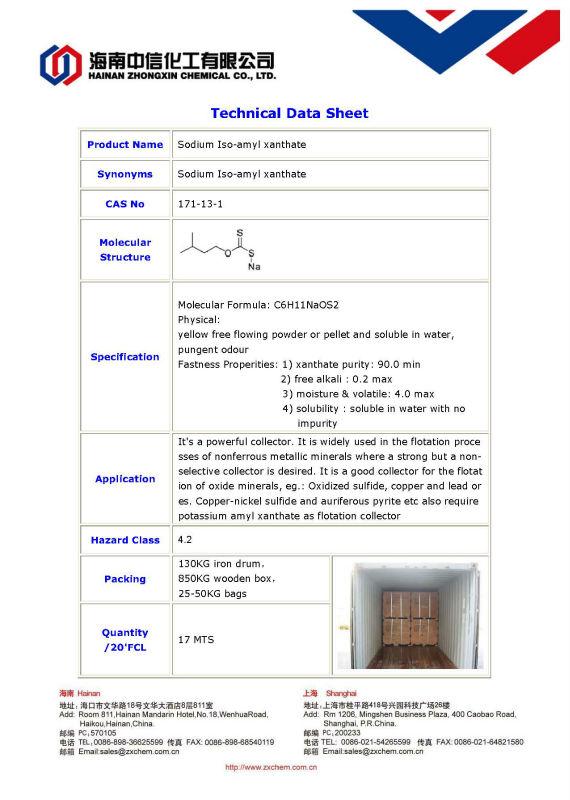 sodium Iso-amyl xanthate