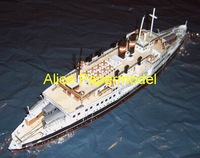 [Alice papermodel] Long 60CM 1:100 Train car Ferry Marine Patrol boat tugboat cargo ship Passenger liner military models