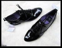Женские мокасины ZAR@ 2012 genuine leather women's shoes, brand designer black causal shoes