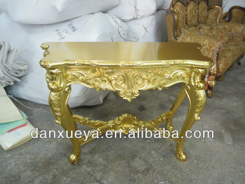 Antique Gold Console Table Antique Gold Foil Console