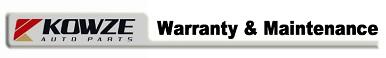 Warranty & Maintenance
