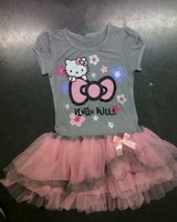 Free shipping Retail hello kitty dress girl dresses