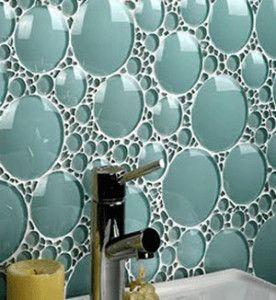 3d runde dekorative blasenglas bad mauerwerk fliesen-mosaik, Hause ideen