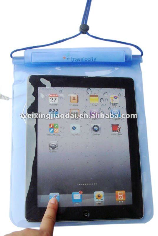 Facroty water resist case for ipad waterproof zipper bag with earphone velcro