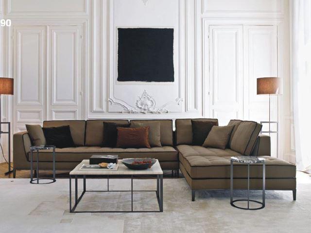 현대 새로운 디자인 큰 사이즈 L 모양 각면 소파 거실 가구 tv 벽 ...