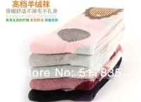 производители шерсти теплый мягкий точка женские носки