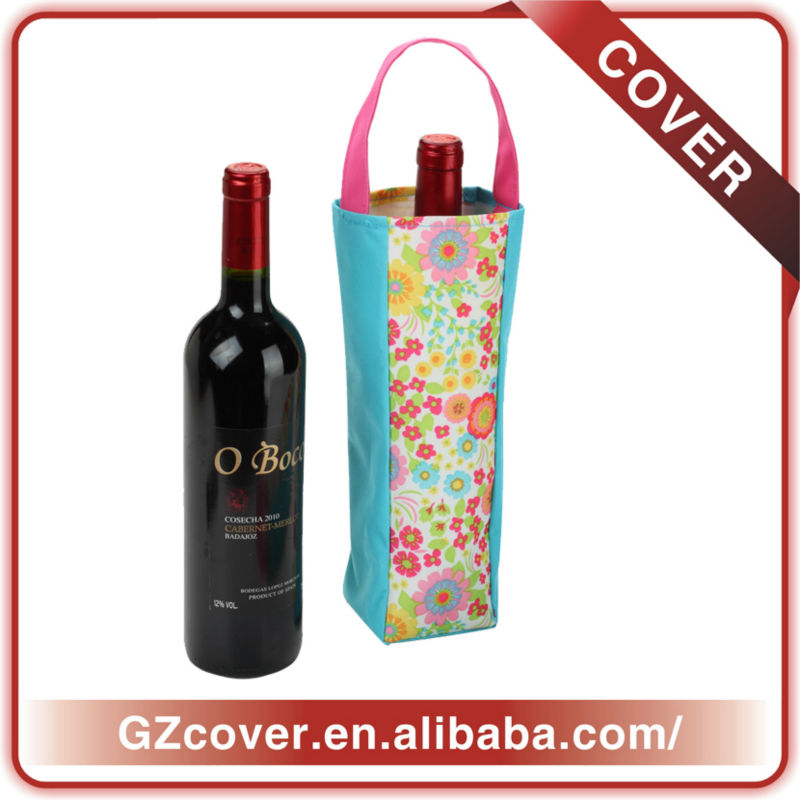 2013 high-end tote cooler portable one bottle wine bag