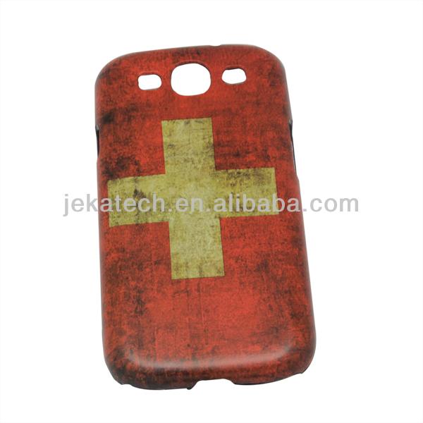 Retro Switzerland Flag Plastic case for Samsung Galaxy S3 I9300