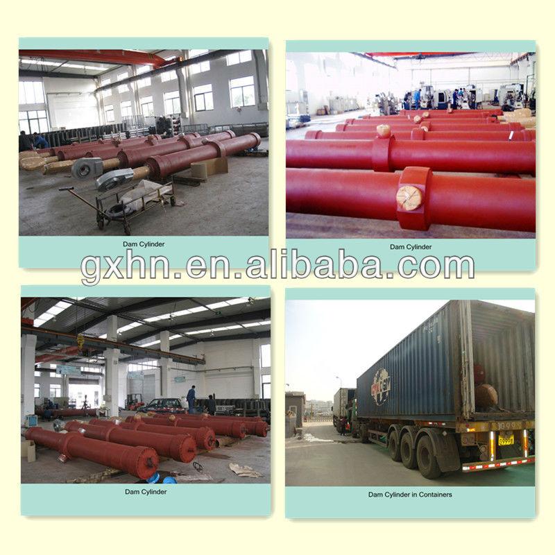 Cilindro hidráulico para carregador / Bulldozer / de lixo compactador / torre Crane / escavadeira / trator / reboque / empilhadeira