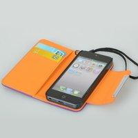 Чехол для для мобильных телефонов 1PCS PU Leather Wallet Card Flip Case Cover + Strap Fit For iPhone 5G 6th Gen JA CM163