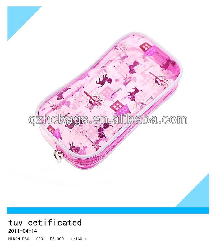 Lady's necessary pink zipper wash kit travel organizer cosmetic bag Travel Toiletries Bag