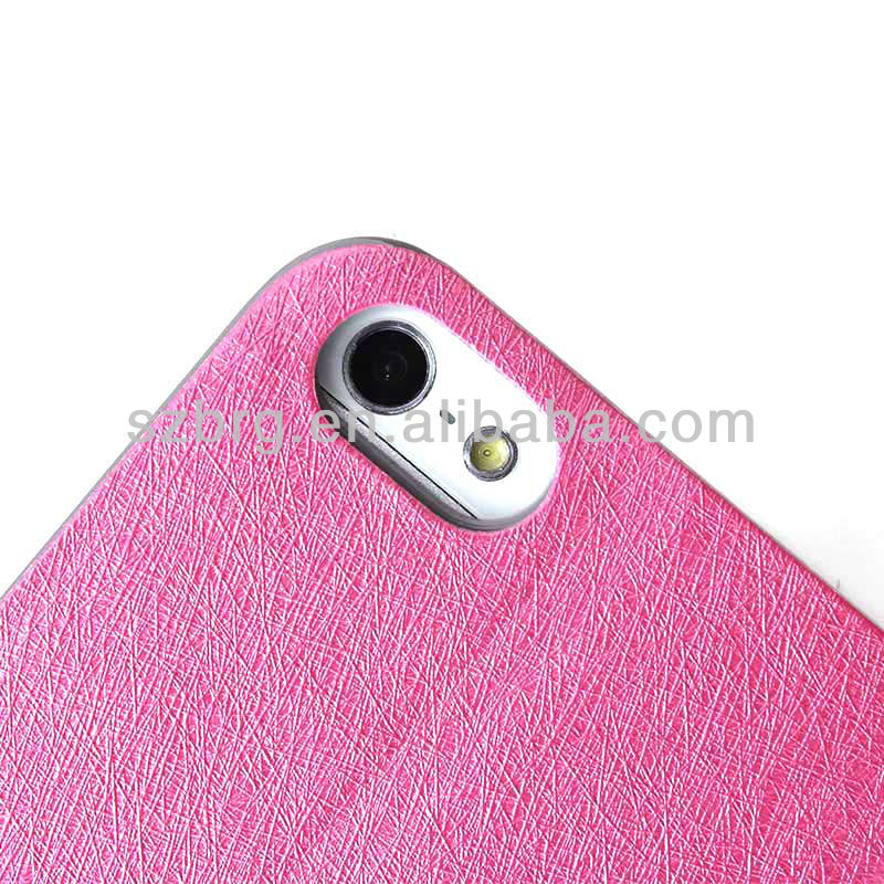 BRG Silk skin leather Cute for iphone 5s leather case