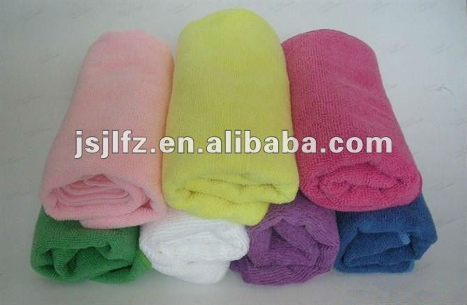 Warp knitted Microfiber hair towel/hair turban