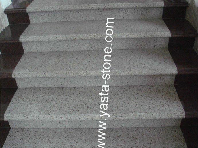 Peldaño de pino decorado piedra escalera-Piezas de escaleras ...