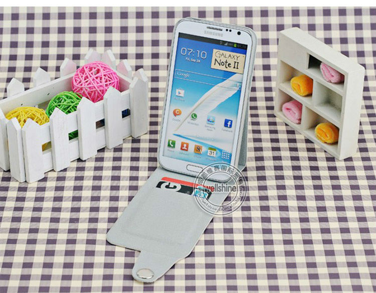 Football Grain Flip PU Case for Samsung Galaxy Note2 N7100