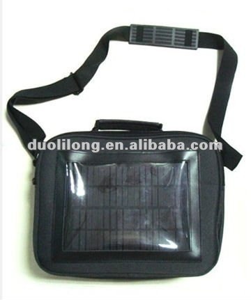 Solar laptop charger travel bag