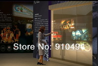 Проекционный экран 1.524*6m hot selling transparent rear projection holographic film for shop window advertising