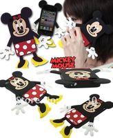 Чехол для для мобильных телефонов cut Mickey Minnie silicone back cover case for iphone 4 4S MOQ:1pcs