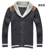 Мужской кардиган New Men's Casual loose Fit Stylish Wool Cardigan V-Neck Men Sweater Coat size M-XL 226