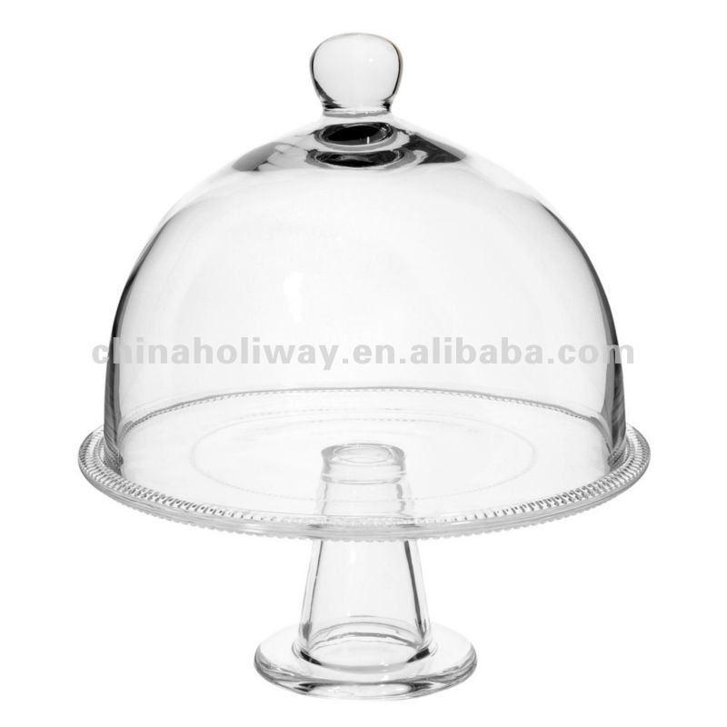 Petite cloche de verre pi destal g teau dome verre for Maison du monde 974
