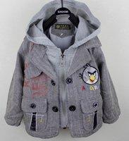 free shipping 3pcs/lot 2012 autumn cartoon children boys long sleeve hoody coat
