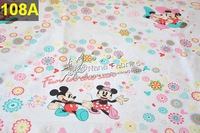 100 Designs to Choose 100% Cotton Cartoon Printed Children's Fabric Children Textiles Fabric 10pcs - 160cm x 50cm