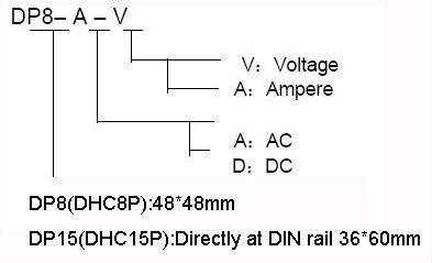 Dhc8p 100-24v ac voltímetro digital
