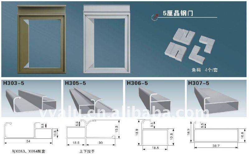 Inserto perfil de aluminio para gabinete de cocina mdf for Gabinetes de cocina en mdf