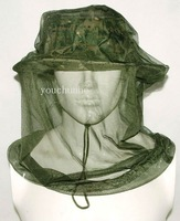 Camouflage Mosquito Bee Insect Mesh Head Face Protect Net Hat Sun Hat