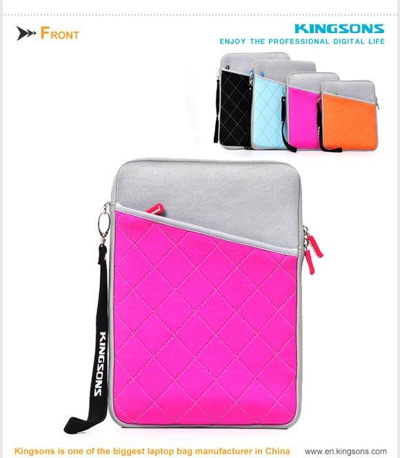 2013 hot sell Kingsons neoprene sleeve for laptop KS6205V
