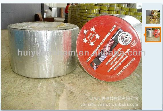 hot sale ALUMINIUM self adhesive bitumen waterproof tapes for roof repair and leaking