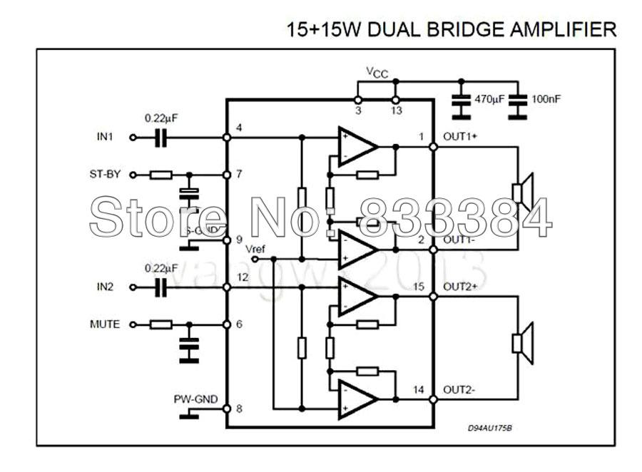 Схема усилителя мощности на микросхеме TDA7266, даташит (3)