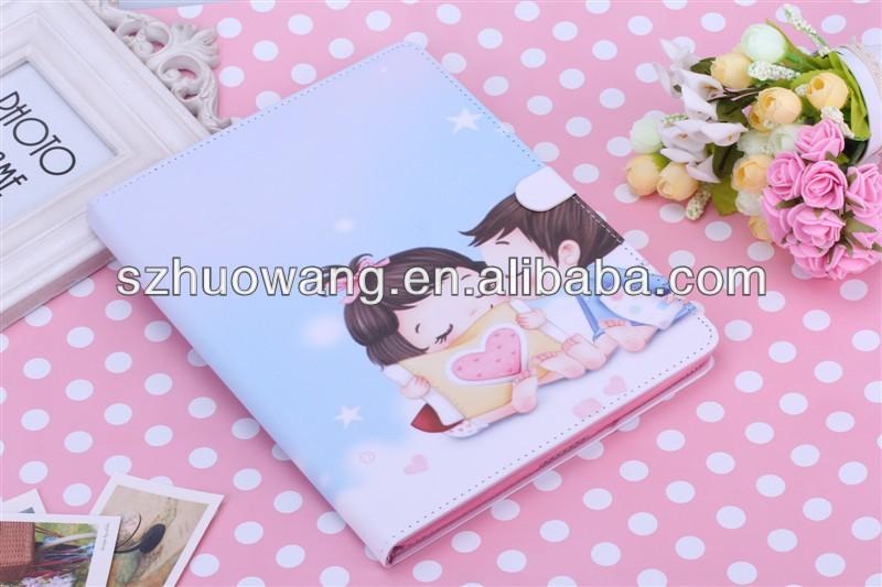 For MINI ipad leather case for MINI ipad love boy and girl
