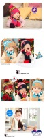 Шапка для мальчиков Children accessories baby warm winter knitting hat and scarf, 2013 Christmas gift set of head cap, 5 color