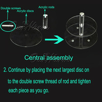 DHL/ems свободный, 7 уровня кристально чистые окружности акриловая круглая кекс стенд свадьба рождения конфеты экрана